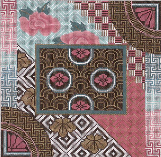 A Japanese Quilt   (Hand Painted by Mindy)