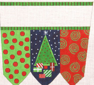 Holiday Surprises  Stocking Cuff    (handpainted from the Meredith Collection)