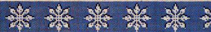 Snowflakes Belt (Handpainted by HSN Designs)