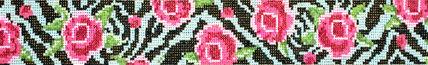 Zebra Rose Belt (Handpainted by Voila!)