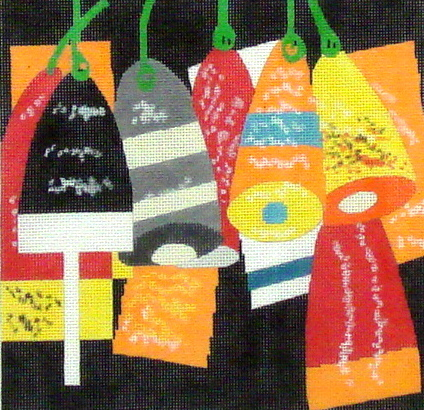 Buoys  (includes stitch guide)  (handpainted from Wellesley Needlepoint Collection