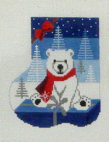 Polar Gift Mini Sock   (Handpainted by Shelly Tribbey Designs)