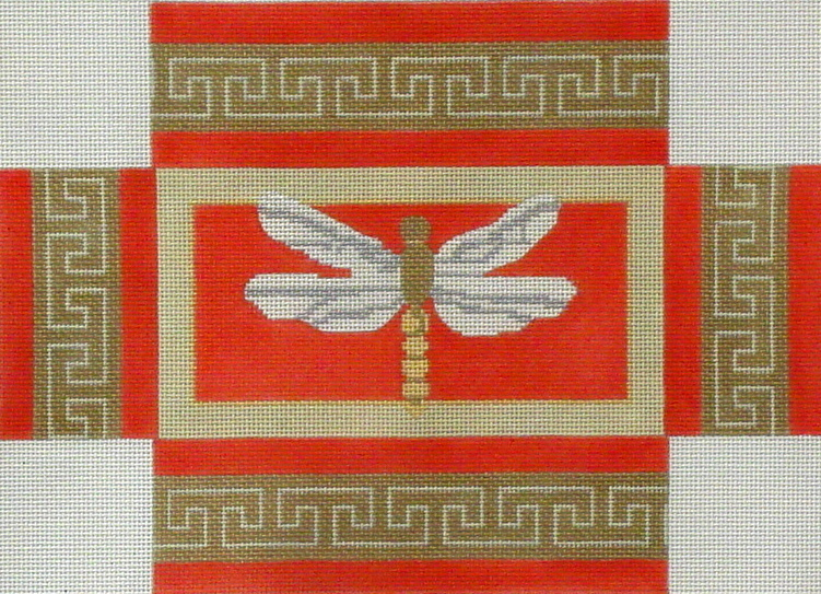Dragonfly Brick Cover  (handpainted by CBK Needlepoint Collection)