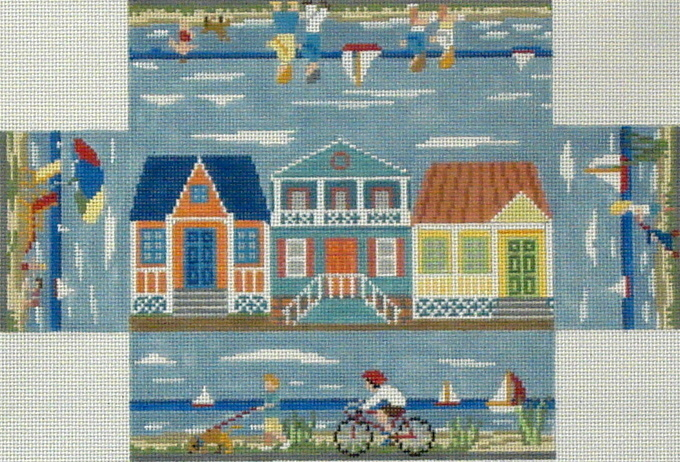 Beach Walk Brick Cover   (Handpainted by Susan Roberts)