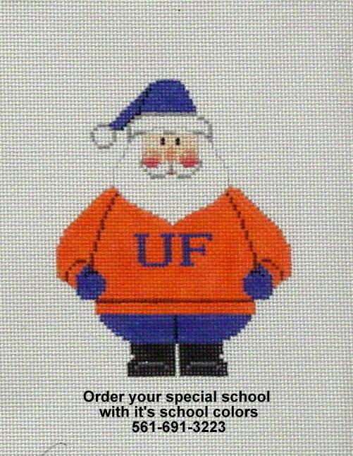 School Santa   (handpainted by Carole Dupree)