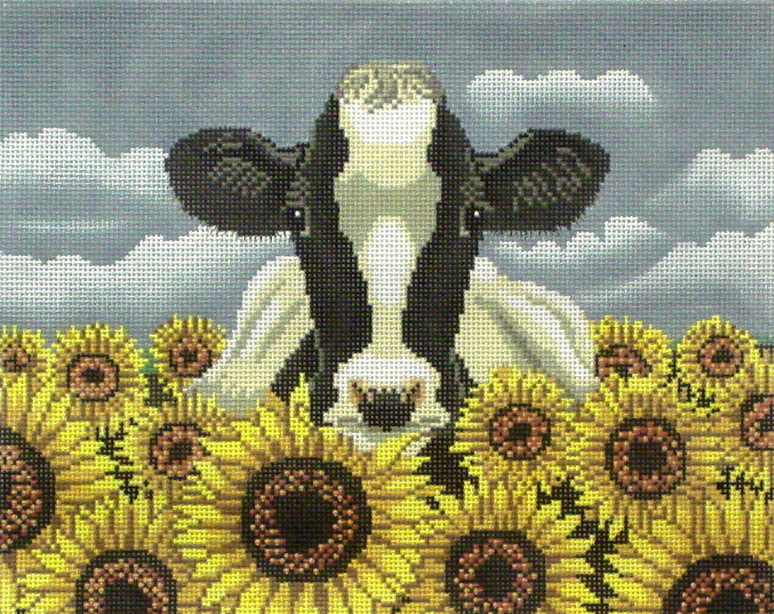 Surrounded by Sunflowers   (hand painted from Cooper Oaks)