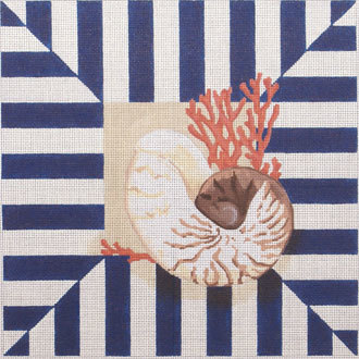 Shell/Coral Stripes    (handpainted from Associated Talents)