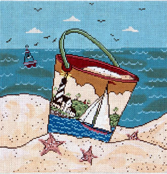 Sailing by the Sea  (Handpainted from Cooper Oaks)