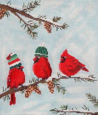 Red Birds II  (Handpainted by Scott Church)