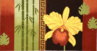 Bird of Paradise, Bamboo, Coins   (Handpainted by JP Needlepoint)