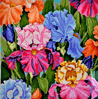 Iris Parade    (handpainted by Treglown Designs)