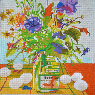 Eggs & Flowers (Hanpainted by The Point Of It All Designs)