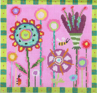 Spring Garden (Handpainted by Birds of a Feather)