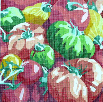 Framers Market, Tomatoes   (handpainted by Jean Smith)