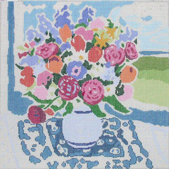 Matisse's Table V   (handpainted by Jean Smith)