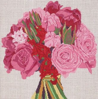 Stunning Rose Bouquet  (handpainted by Jean Smith)