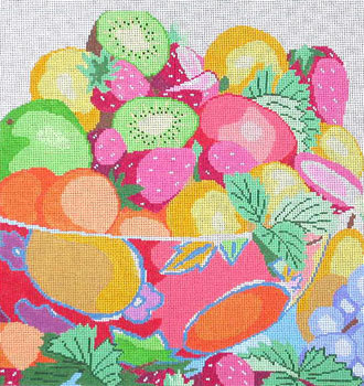 Fabulous Fruit Bowl    (handpainted by Jean Smith)
