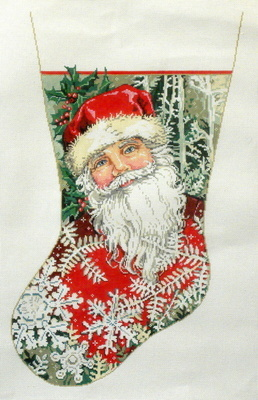 Winter Wonderland Stocking  (handpainted by Sandra Gilmore)
