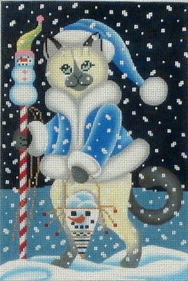 Snow Cat  (Handpainted by Brenda Stofft Designs)