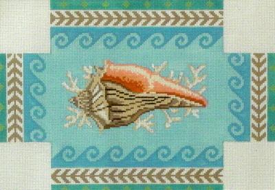 Geo Pattern Whelk Brick Cover  (handpainted by Susan Roberts)