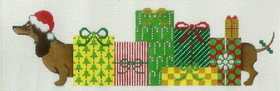 Princess & Her Packages  (handpainted  from JP Needlepoint)