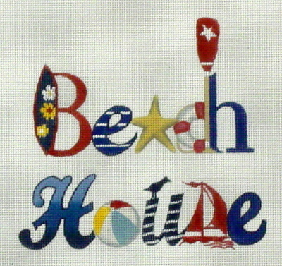 Beach House  (handpainted by Melissa Shirley)