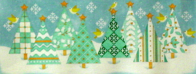 Tree Row  (handpainted from Mellissa Shirley)