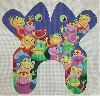 Froggie Frogs        (Handpainted by Edie & Ginger)