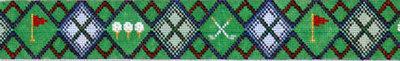 Golf Argyle Belt      (Handpainted by Voila)