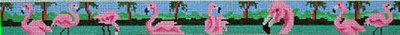 Flamingo Row Belt (Handpainted by HSN Designs)
