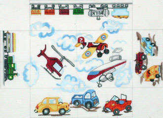 Planes, Trains & Cars Brick Cover  (handpainted from Meredith Collection)