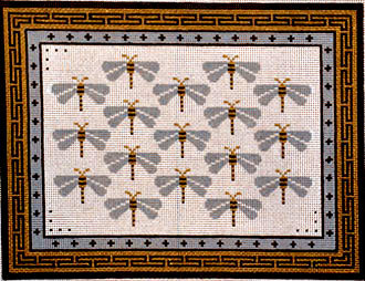 Dragonflies for You    (Handpainted by JP Needlepoint)