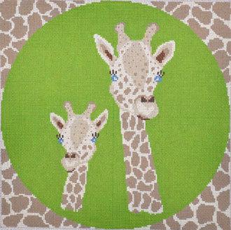 Giraffe Pillow (Handpainted by J. Child Design)
