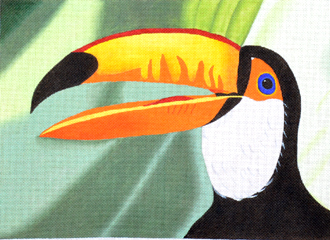 Toucan (Handpainted by Maps Designs)