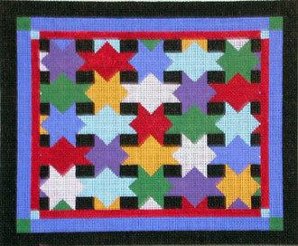 Patchwork Star Tallis Bag   (handpainted by Susan Roberts)