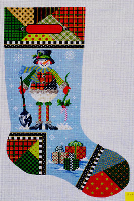 Patchwork Pete Stocking (Handpainted by Kelly Clark Designs)