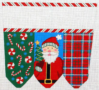 Santa Traditional Colors Stocking Cuff    (handpainted by Meredith Collection)