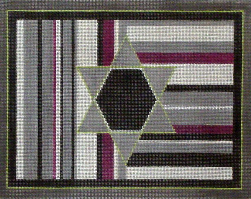 Purple Stripe Tallis   (hand painted from Sew Much Fun)