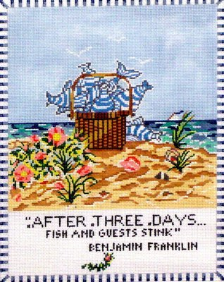 After 3 Days Fish & Guests Stink   (Hand Painted by Cooper Oaks)