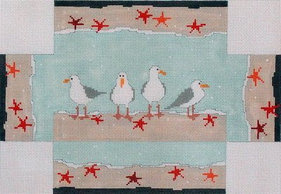 Seagulls Brick Cover    (handpainted by Pippin)