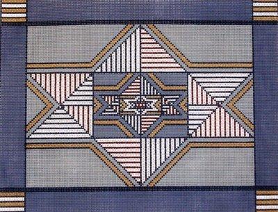 Triple Star     (handpainted  by Magic Needle)