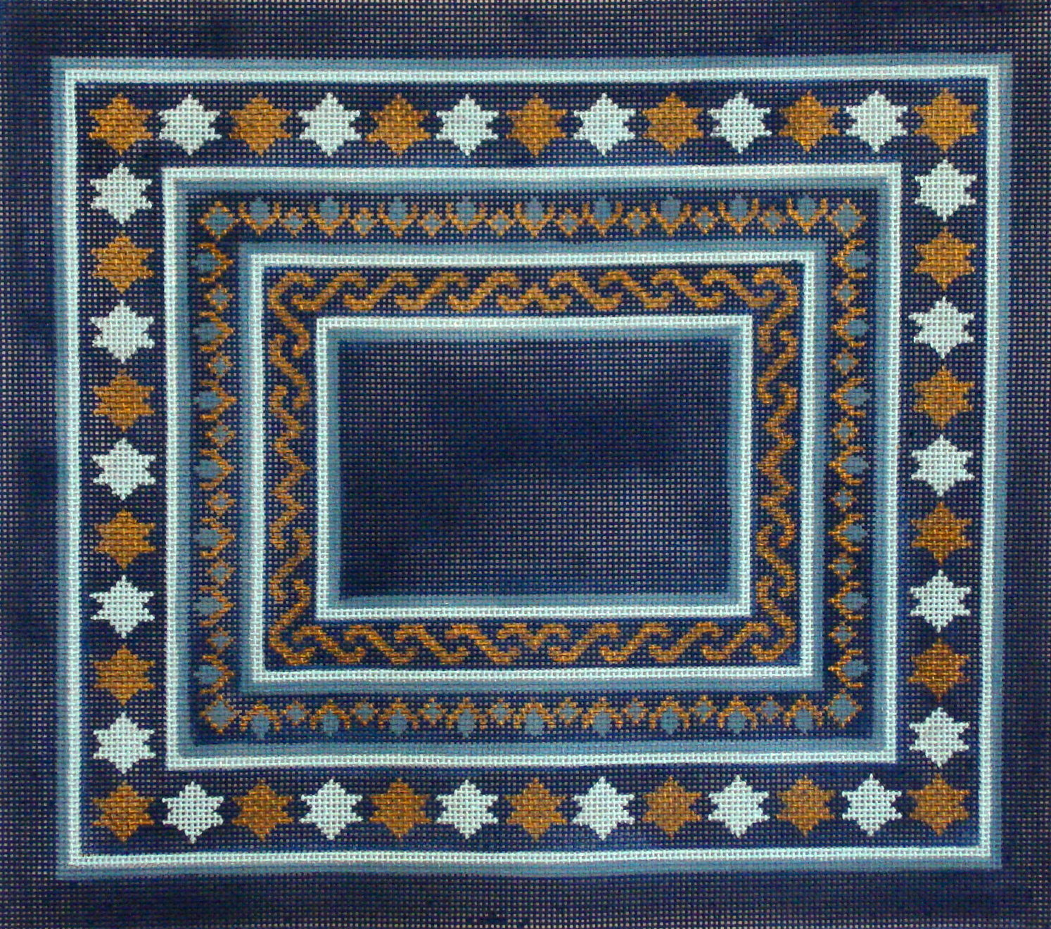 Star of David, Blue/Gold      (handpainted by Alice Peterson