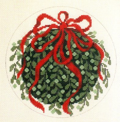 Kissing Ball   (handpainted by Julia's Needlework