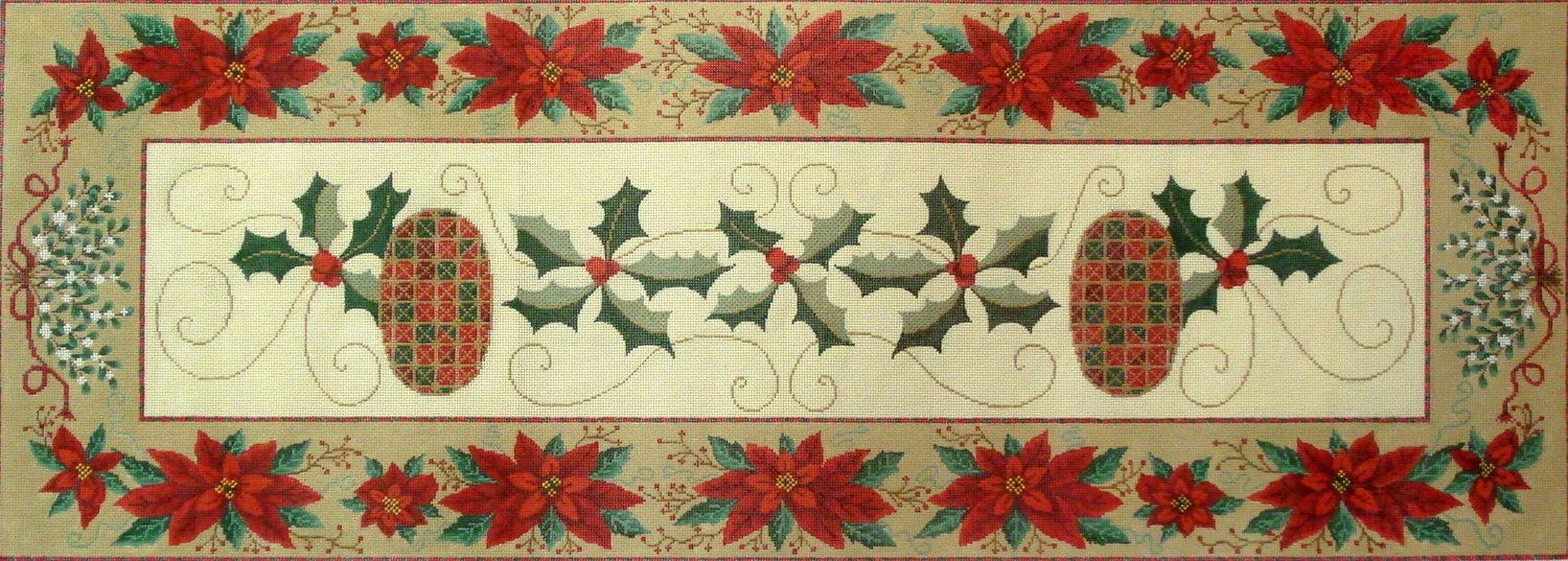 Christmas Table Runner   (A Needlepoint Alley canvas exclusive)