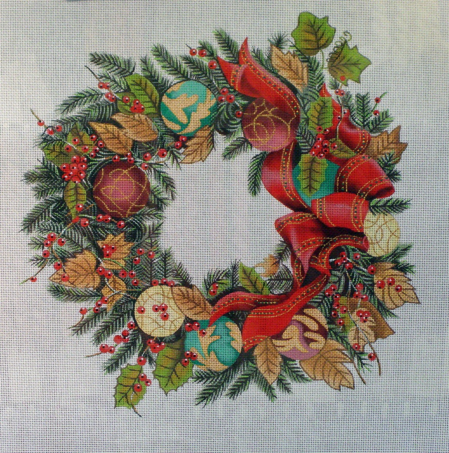Ornament Wreath      (handpainted by Trubey)