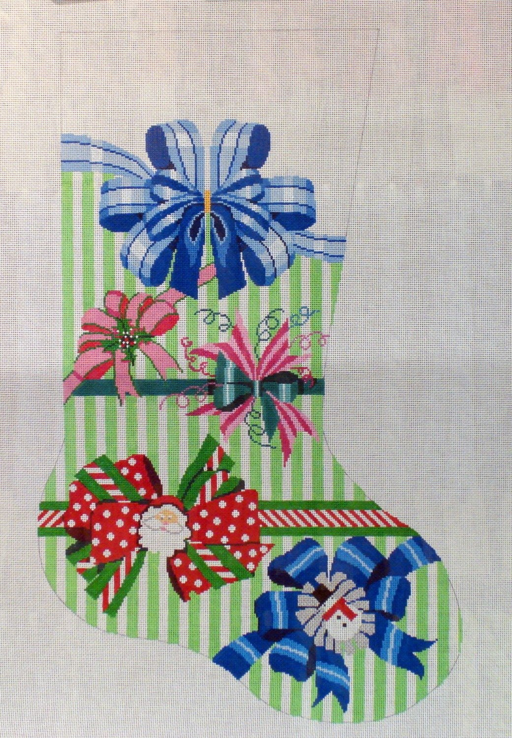Perfect Hoiday Bow Stocking (Handpainted by Shelly Tribbey Designs)