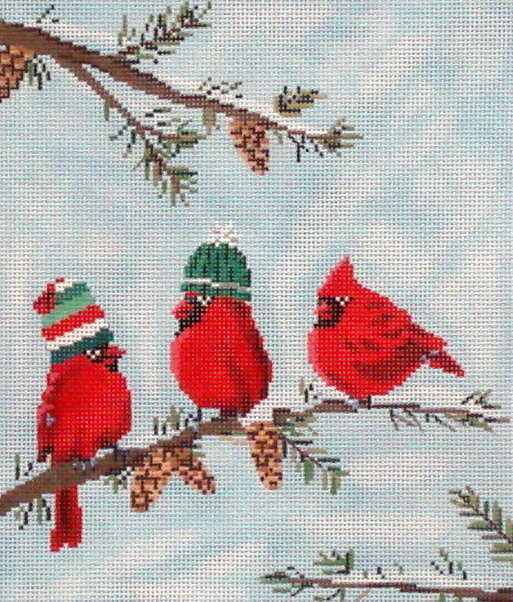 Red Birds II  (Handpainted by Scott Church)