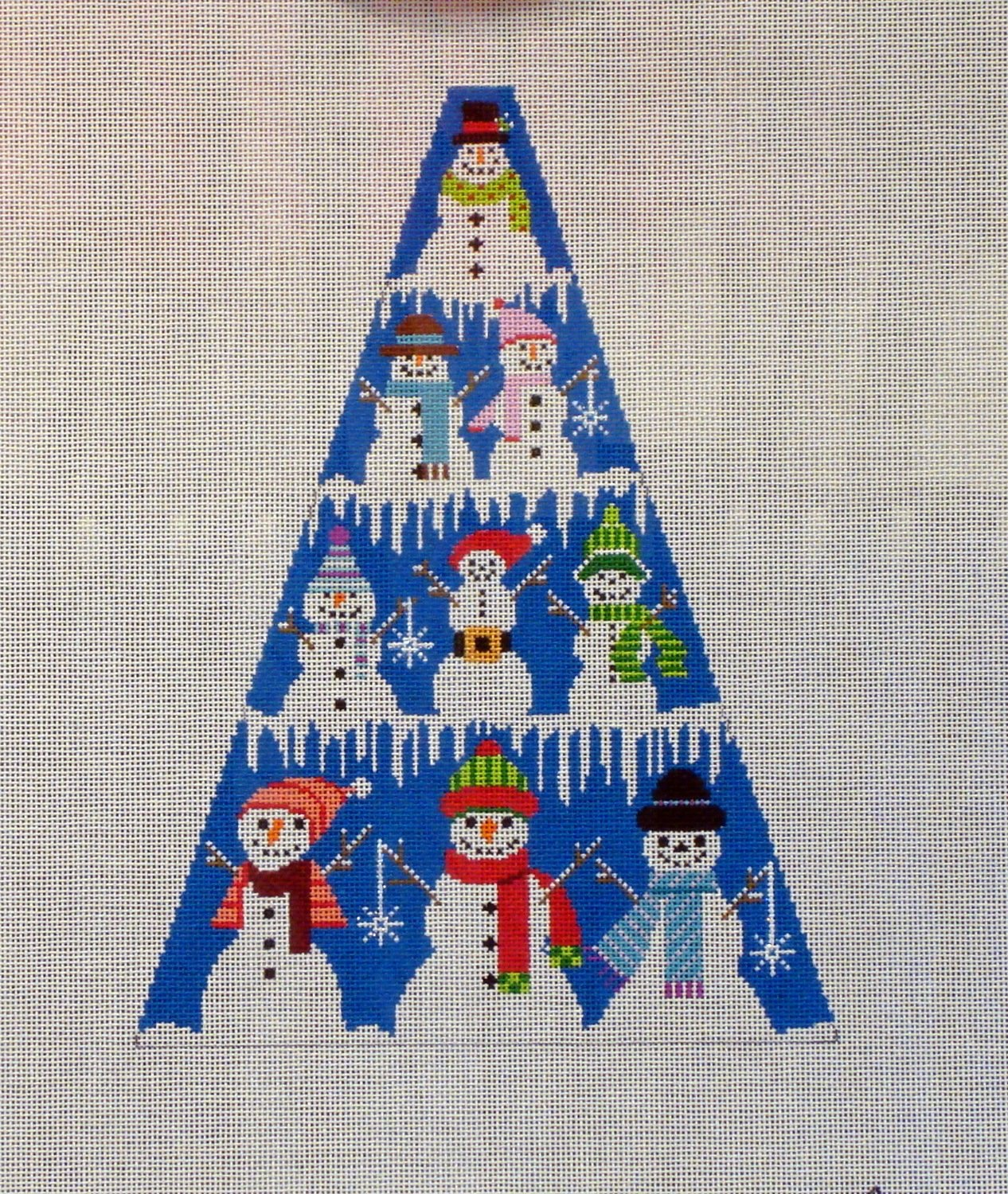 Snowman Tree Standup (Handpainted by Shelly Tribbey Designs)
