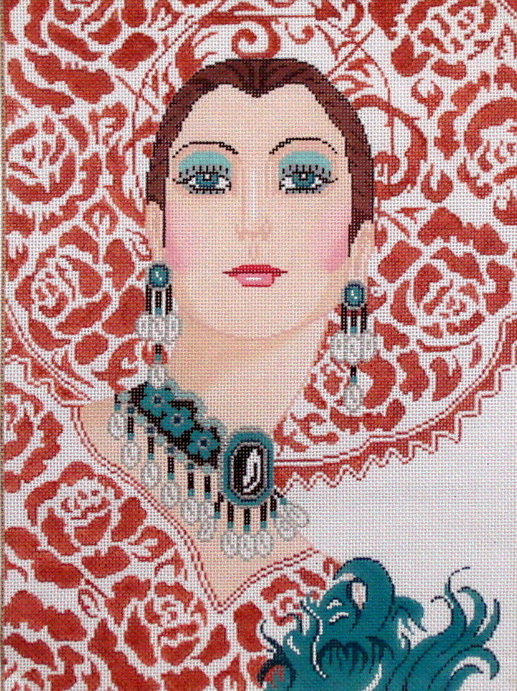 Lady in Lace     (handpainted by Sophia)