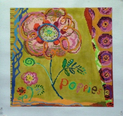 Poppies (Handpainted by Birds of a Feather)